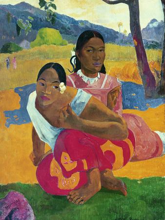 Nafea faaipoipo (quand êtes-vous vous marier?) œuvre par Paul Gauguin