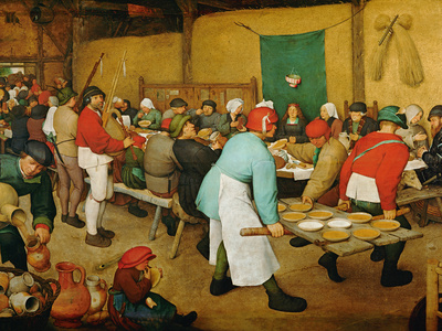 Peasant Wedding (Bauernhochzeit), 1568 Stretched Canvas Print