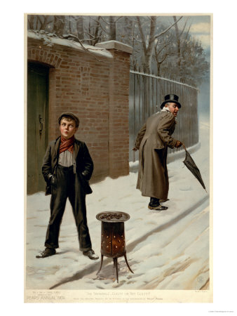 """The Snowball, Guilty or Not Guilty, from the Pears Annual, Christmas, 1906"" Giclee Print"