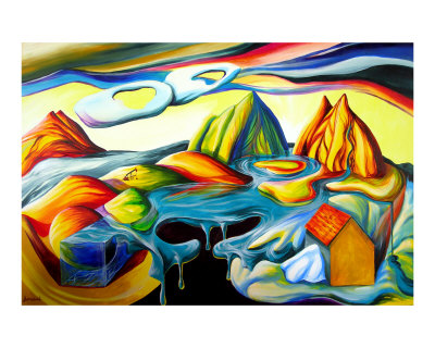 Alaska: The destruction of nature by man & oil Giclee Print by ...