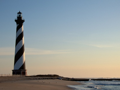 Cape Hatteras Lighthouse at Sunrise Stretched Canvas Print