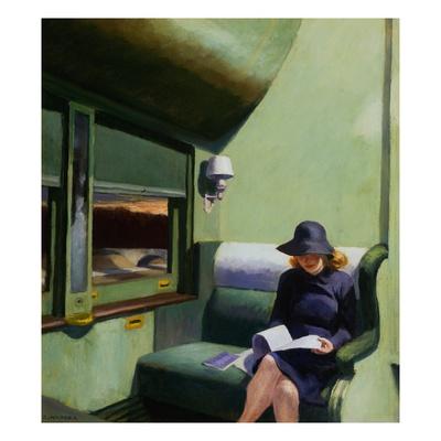 Compartiment C, voiture 293, 1938 par Edward Hopper