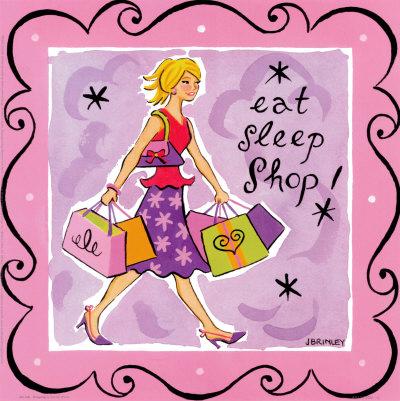 Talk Girls on Girl Talk  Shopping Print By Jennifer Brinley At Art Com