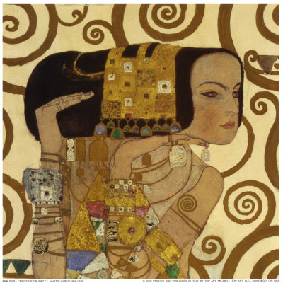 Expectation, Stoclet Frieze, c.1909 (detail) Print by Gustav Klimt ...