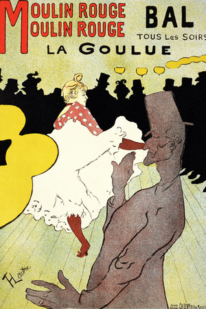 "Reproduction of a Poster Advertising ""La Goulue"" at the Moulin Rouge, Paris Stretched Canvas Print"