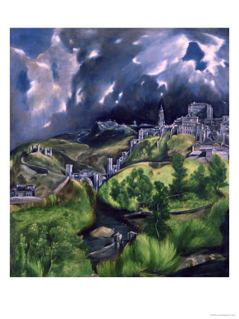 View of Toledo circa 1597-99 art print by El Greco