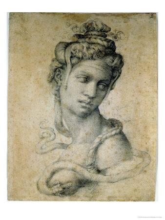 Cleopatra drawing artwork by Michelangelo Buonarroti