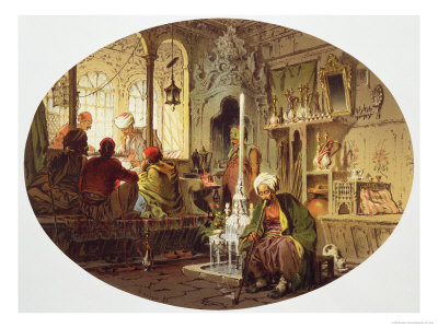 Ottoman Coffee House, 1862 Stretched Canvas Print