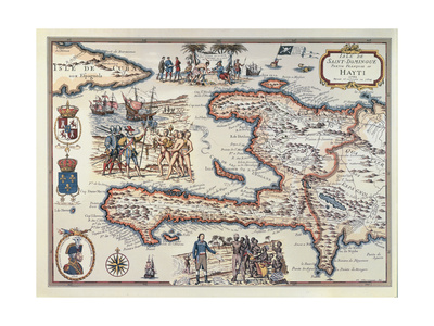 Map of the Island of Haiti, 1789 Stretched Canvas Print