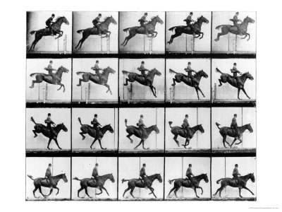 "Man and Horse Jumping, from ""Animals in Motion"", London, Published 1907 Stretched Canvas Print"