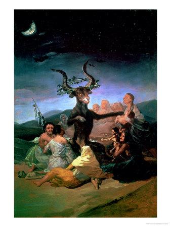 The Witches Sabbath, 1797-98 rococo artwork by Francisco de Goya