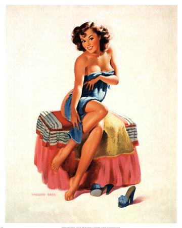 Chicas pin up - Página 4 Vaughan-bass-pin-up-girl-with-towel