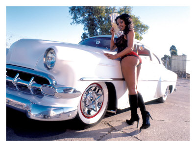 pin up photos. Pin-Up Girl: 1951 Chevy Chop