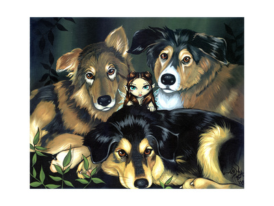 dog pictures to print. Dog Picture Giclee Print