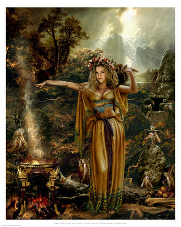 Fairy Queen Medb of the Sidhe Print at Art.