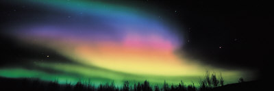 Northern Lights Stretched Canvas Print
