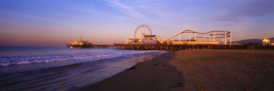 Santa Monica Pier, California, USA Stretched Canvas Print