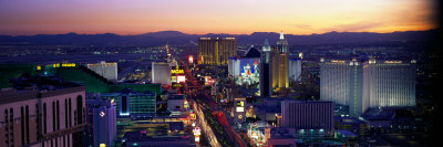 The Strip, Las Vegas, Nevada, USA Stretched Canvas Print