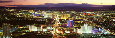 The Strip, Las Vegas Nevada, USA Stretched Canvas Print