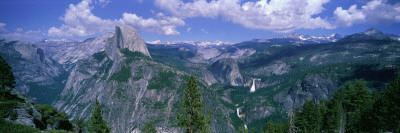 Nevada Fall and Half Dome, Yosemite National Park, California Stretched Canvas Print