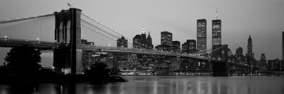 Brooklyn Bridge, Manhattan, New York City, New York State, USA Stretched Canvas Print