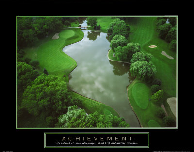 Achievement Golf Course Print