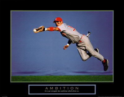 Ambition: Baseball Player Print at Art.