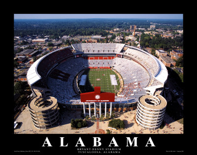 UNIVERSITY OF ALABAMA Stadium Print at Art.