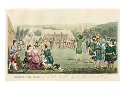 Dress Model  on The Competitors Dress Like Robin Hood And His Merry Men Giclee Print