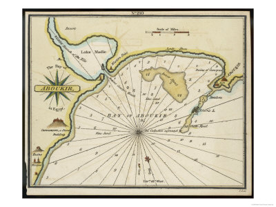 maps of egypt. Map of Egypt: Aboukir Bay
