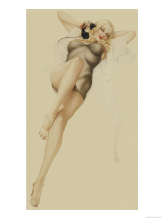 Varga Girl October 1940 Alberto Vargas Art Print From $19.99 $12.99