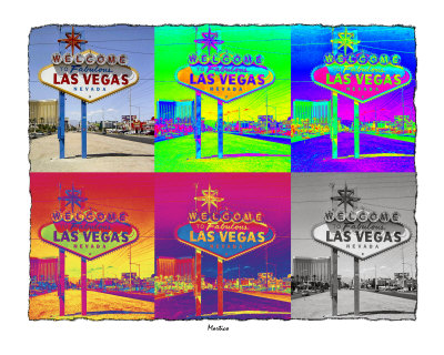Warhol Las Vegas Sign Stretched Canvas Print