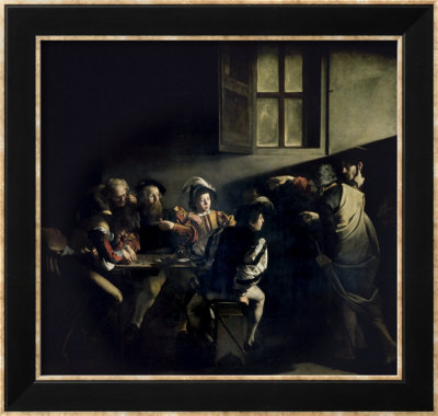 Caravaggio Call Of Matthew. St. Matthew#39;s Vocation Framed