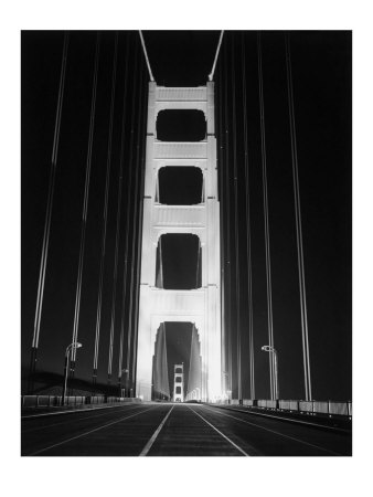 pictures of the golden gate bridge at night. 1937 Golden Gate Bridge at