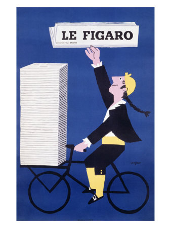 LE FIGARO Giclee Print by Raymond Savignac at Art.