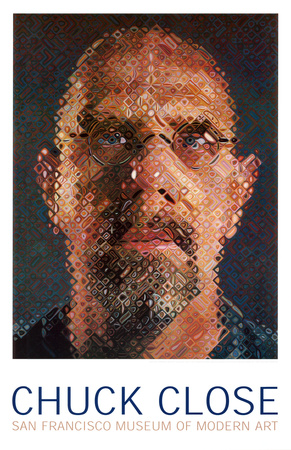 Self-Portrait 2000-2001 photorealistic artwork by Chuck Close