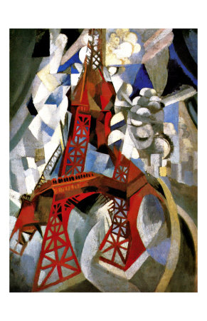 Red Eiffel Tower artwork by Robert Delaunay