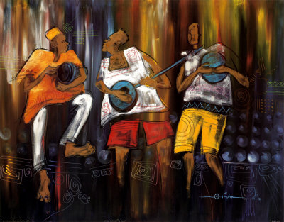 African Musicians Print at Art.com