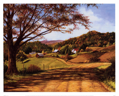 Country Roads Print by Lene Alston Casey at Art.