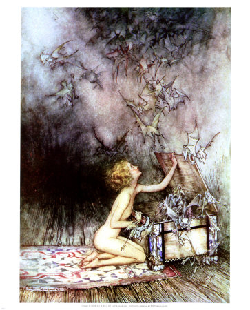 Pandora's Box Print by Arthur Rackham at Art.