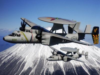 E-2C Hawkeyes Stretched Canvas Print