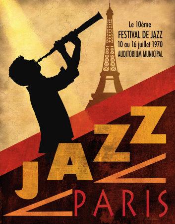 jazz in paris  1970 print