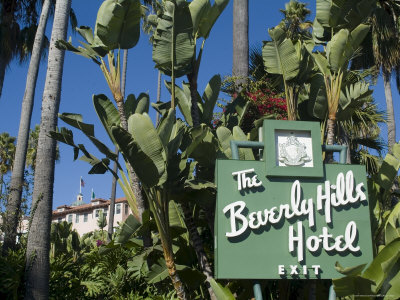 Beverly Hills Hotel, Beverly Hills, California, USA Stretched Canvas Print
