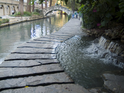Riverwalk, San Antonio, Texas, USA Stretched Canvas Print