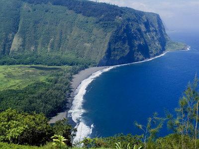 View of Waipio Valley, Island of Hawaii (Big Island), Hawaii, USA Stretched Canvas Print