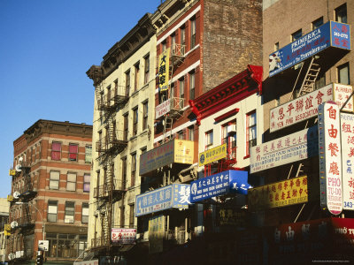 Chinatown, New York City, New York, USA Stretched Canvas Print