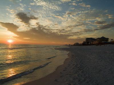Sunset, Destin, Florida, USA Stretched Canvas Print