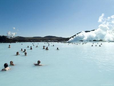 Blue Lagoon (Mineral Baths), Near Keflavik, Iceland, Polar Regions Stretched Canvas Print