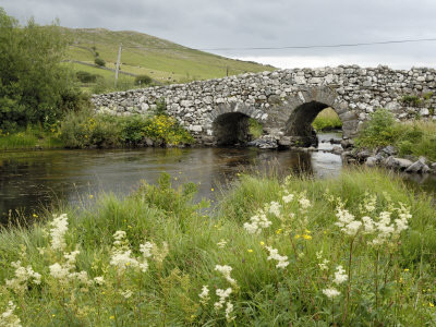 Quiet Man Bridge, Near Maam Cross, Connemara, County Galway, Connacht, Republic of Ireland Stretched Canvas Print