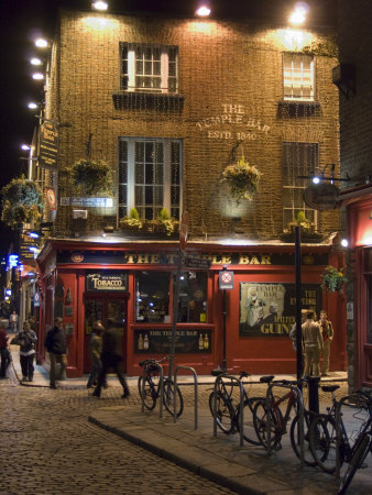 The Temple Bar Pub, Temple Bar, Dublin, County Dublin, Republic of Ireland (Eire) Stretched Canvas Print